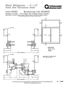 Blast Resistant B0360 Series Horizontal Sliding Graham