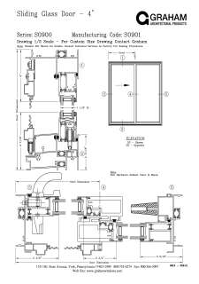 Sliding Glass Door Plan s0900 series (xo) sliding glass doors | graham architectural products