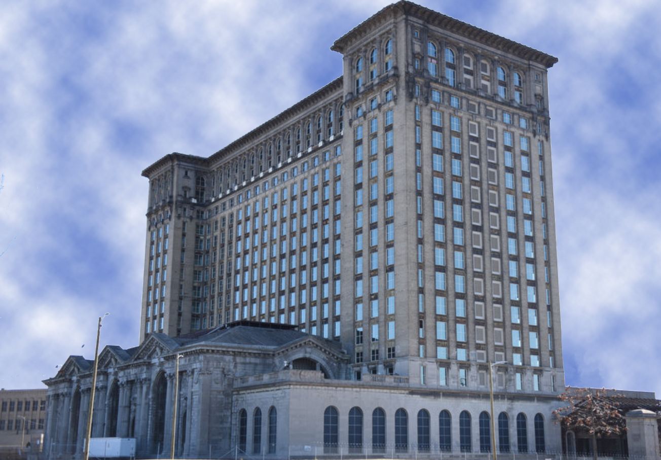 Michigan Central Station Window Installation Completed